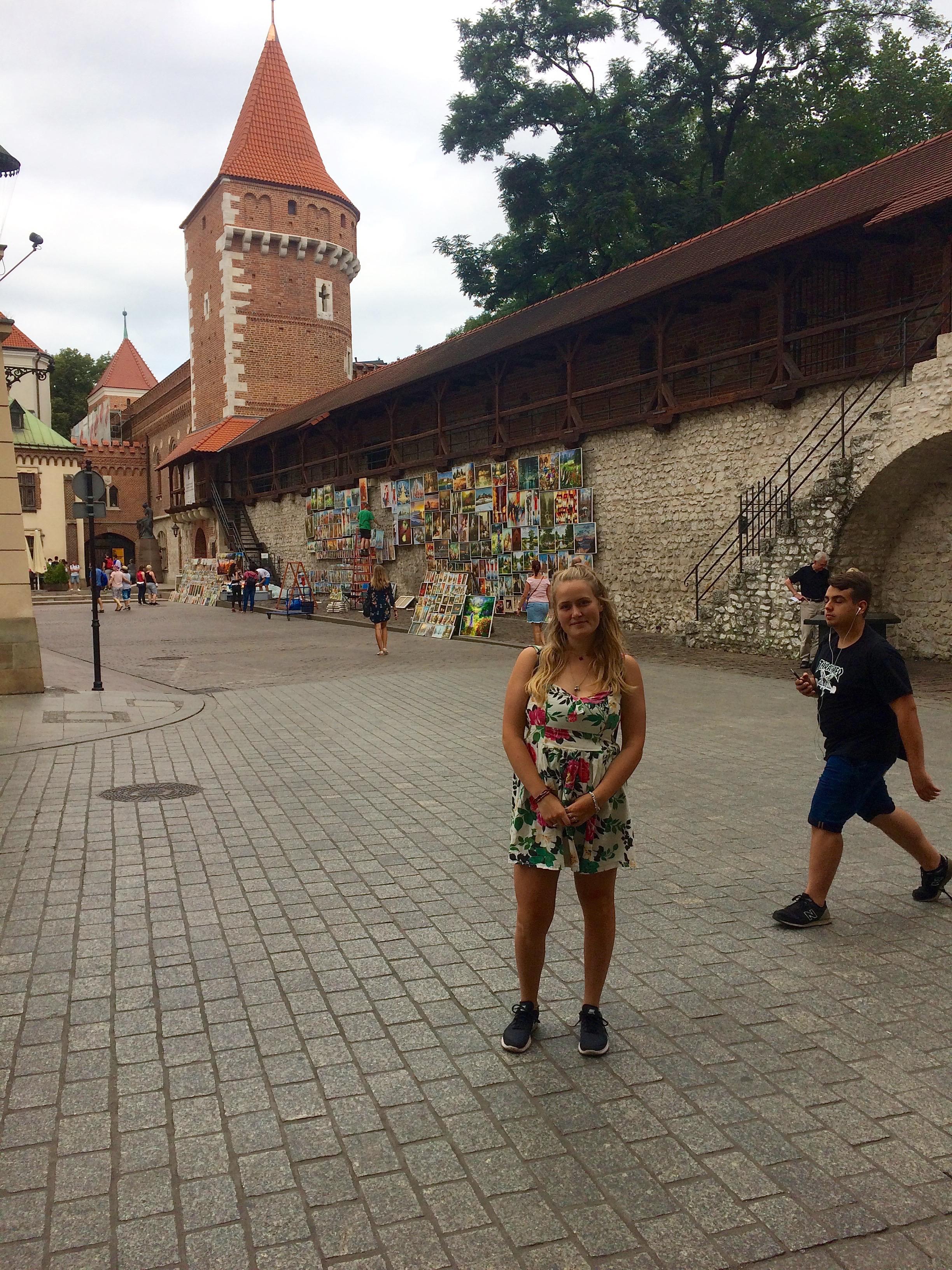 Me in the center of Krakow