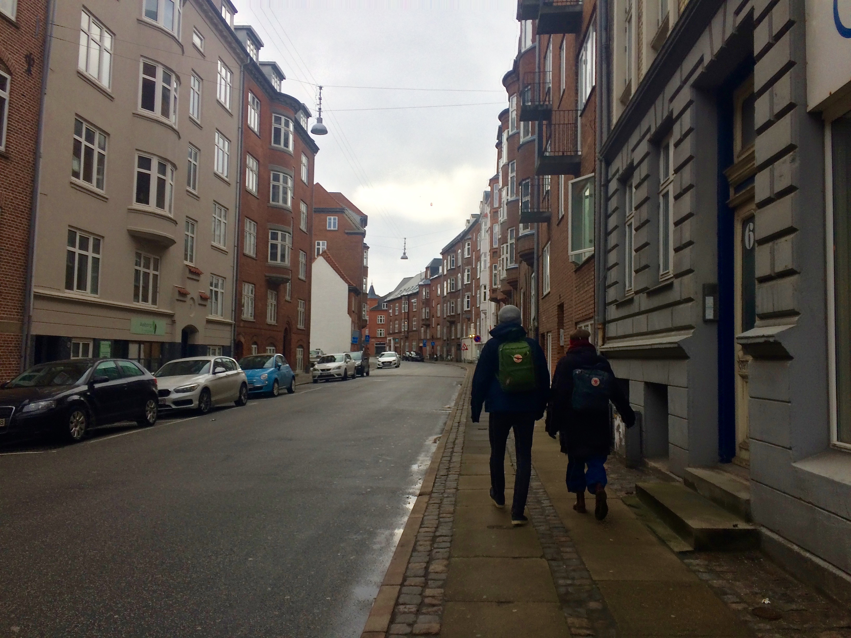 My two friends at the streets of Aalborg